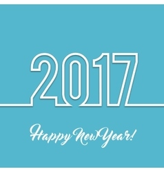 2017 happy new year background vector