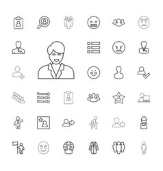 33 user icons vector