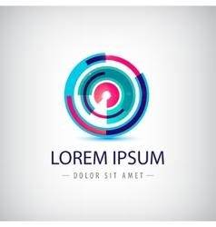 Abstract colorful circle loop logo vector