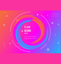 Abstract fluid color pattern with modern vector