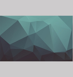 abstract modern low poly dark green background vector image