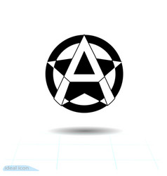 Anarchy sign image white background anarchist vector