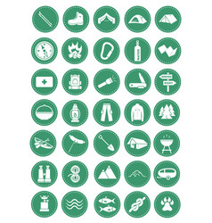 Camp icons vector