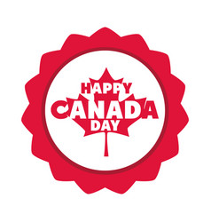 canada day maple leaf lettering memorial vector image