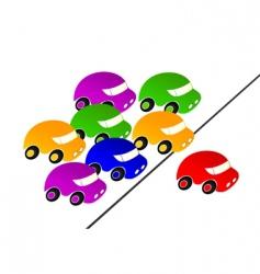 Car racing vector