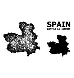 Carcass map castile-la mancha province vector