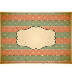 Cardboard vintage frame vector image