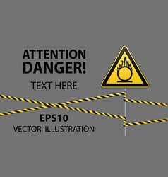 caution oxidizer safety sign safety at work vector image