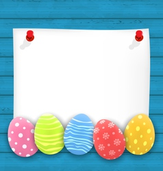 Celebration empty paper card with Easter vector image