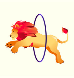Circus trained wild animals performance gradient vector