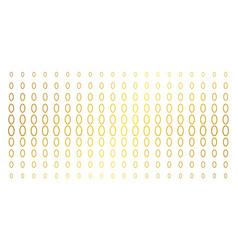 Contour ellipse golden halftone grid vector