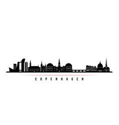 Copenhagen skyline horizontal banner vector
