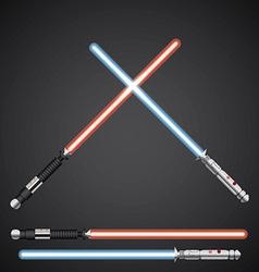 Crossed Light swords Futuristic melee sci fi vector