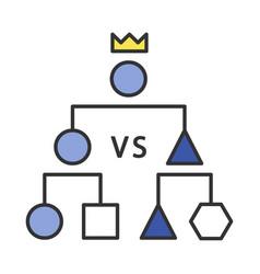 double-elimination tournament color icon vector image