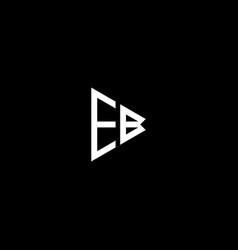 E b letter logo abstract design on black color vector