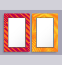 empty frames two banners red and yellow color vector image