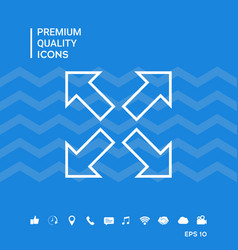 Extend resize line icon vector