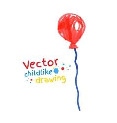 Felt pen drawing of balloon vector