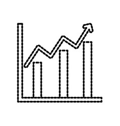 Financial growth business chart diagram vector