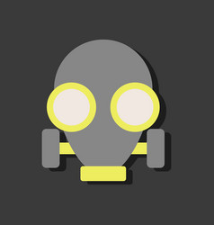 Flat icon design collection gas mask in sticker vector