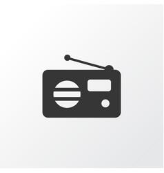 fm icon symbol premium quality isolated radio vector image