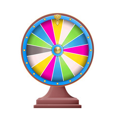 fortune wheel empty sectors vector image
