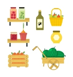 Fresh vegetables from the garden vector image