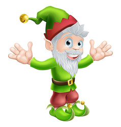 garden gnome or elf vector image
