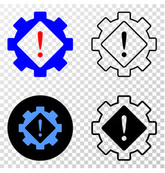 gear warning eps icon with contour version vector image