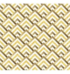 Geometric gold glittering seamless pattern on vector
