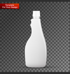 glass white wine bottle vector image