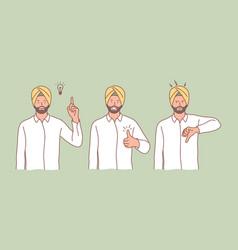 Hindu idea like dislike set concept vector