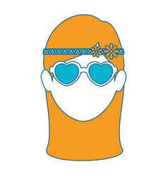 Hippie style design vector
