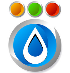 Icon with drop shape water or other liquid fluid vector