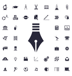Ink pen icon vector