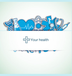 Light medical background vector