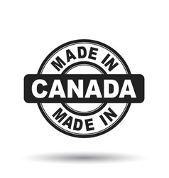 Made in canada black stamp on white background vector