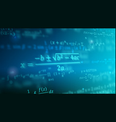 Mathematical formulas floating in perspective vector