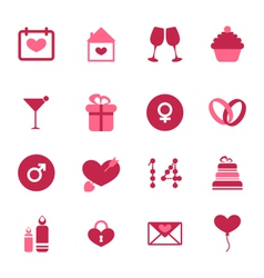 Modern flat icons for Valentines Day design vector image