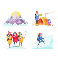 Mountaineering design concept vector