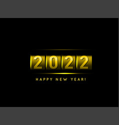 new year golden counter 2022 vector image