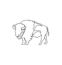 one continuous line drawing strong north vector image