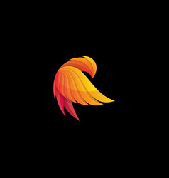 phoenix logos abstract design vector image