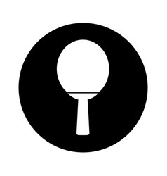 Ping pong racket isolated icon vector