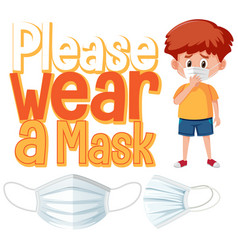 please wear a mask sign vector image