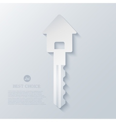 real estate icon background Eps10 vector image