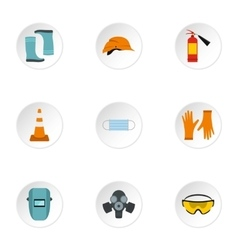 Repair tools icons set flat style vector image