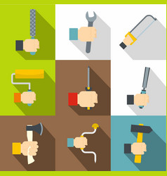 repair works icons set flat style vector image