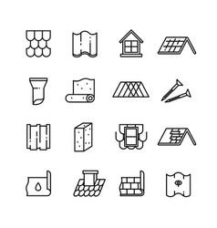 rohousetop construction materials vector image