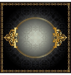 Royal pattern with frame vector image